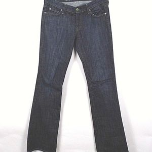 7 For All Mankind Womens Bootcut Organic Jeans